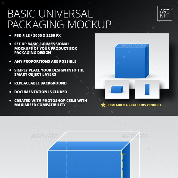 Basic Universal Packaging Mockup