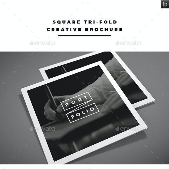 Square Tri-fold Creative Brochure