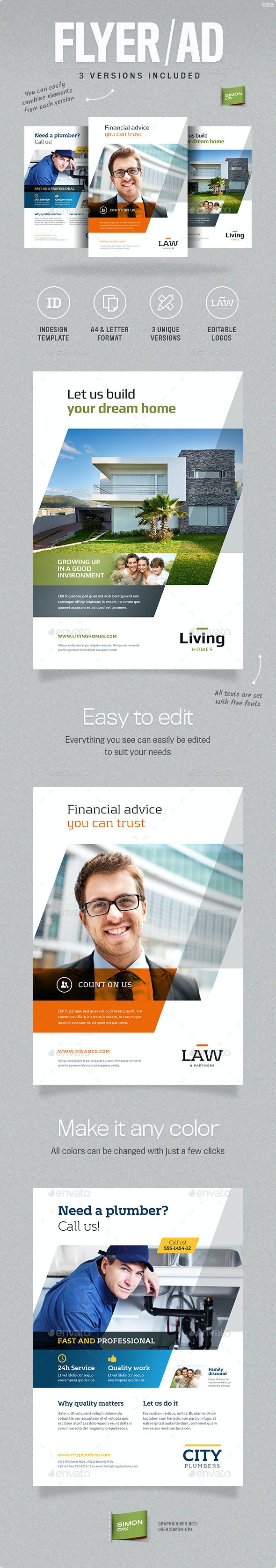 Business Flyer or Ad template - Corporate Flyers