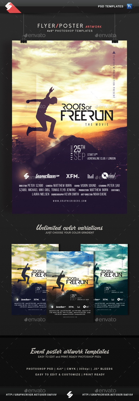 Freerun Movie - Flyer / Poster Template - Miscellaneous Events