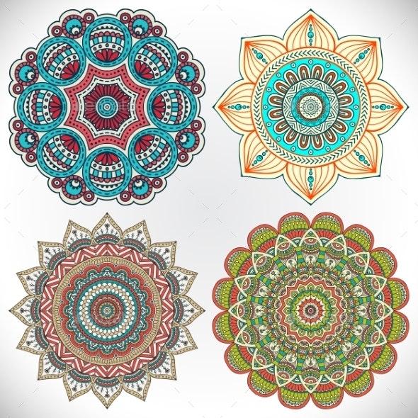 Mandala Set - Backgrounds Decorative