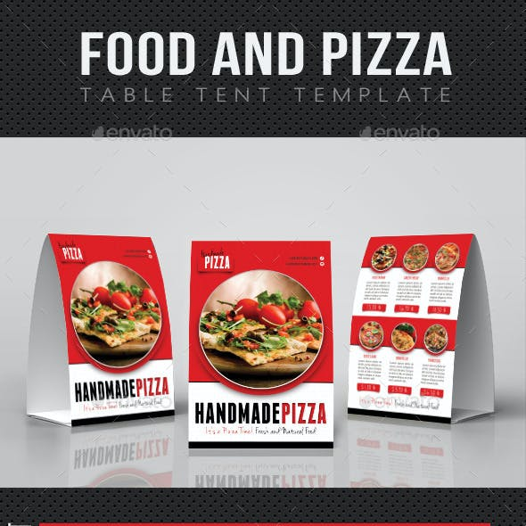 Food And Pizza Table Tent Template V01