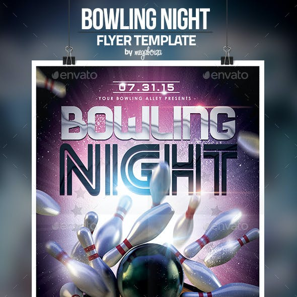 Bowling Night Flyer / Poster Template