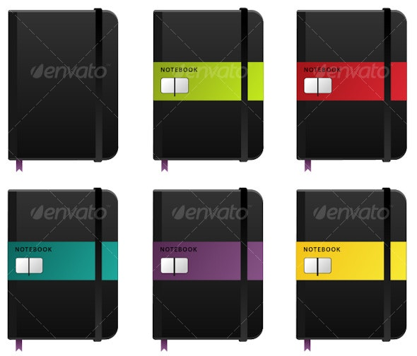 Notebook Icon in multiple colours - Business Icons
