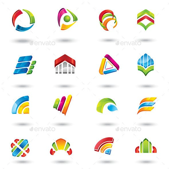 Abstract Design Elements and Icons.