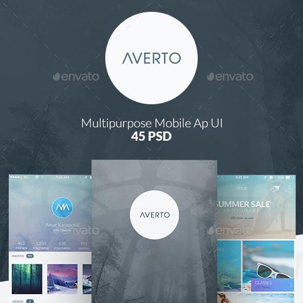 Averto - Multipurpose Mobile App UI