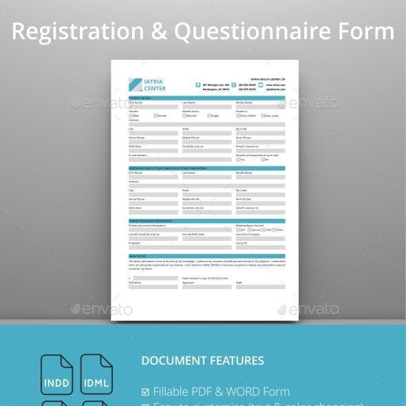 Registration and Questionnaire PDF Form
