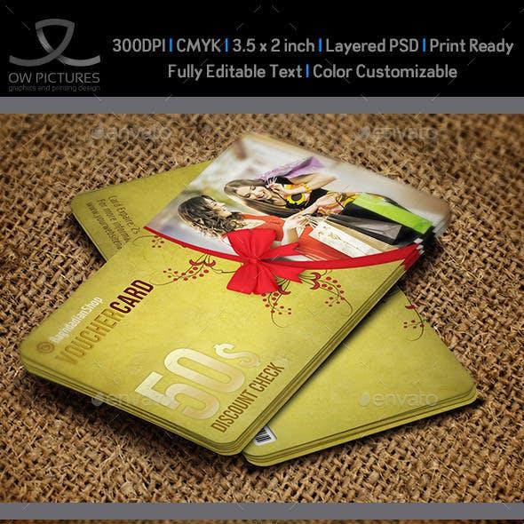 Gift Voucher Card Template Vol 20