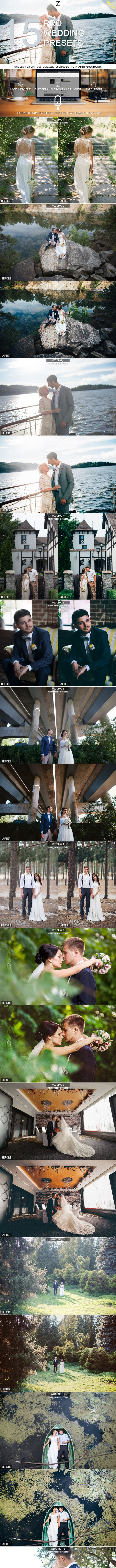 15 Pro Wedding Presets - Wedding Lightroom Presets