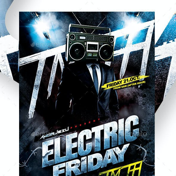 Electric Friday Flyer Template