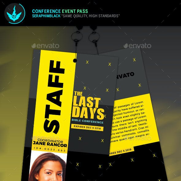 Conference Event Pass Template