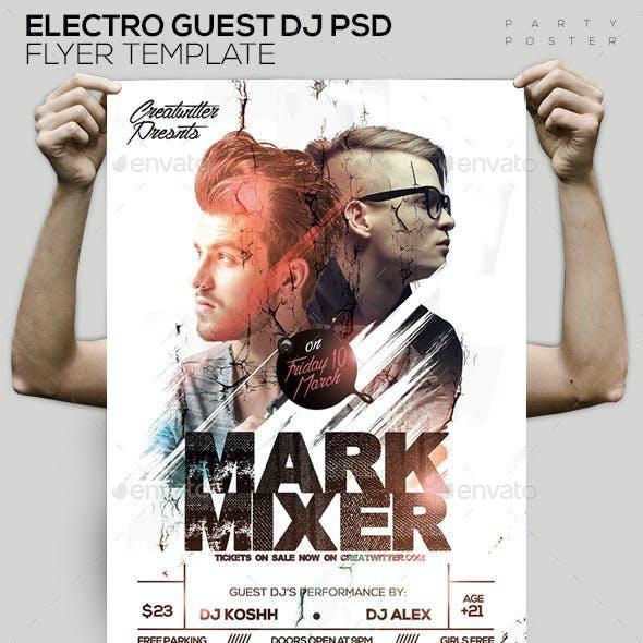 Guest DJ's PSD Poster/Flyer Template
