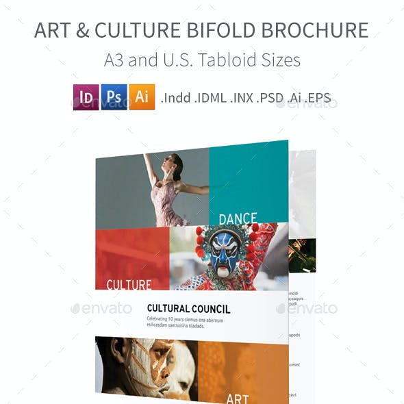Art and Culture Bifold / Halffold Brochure