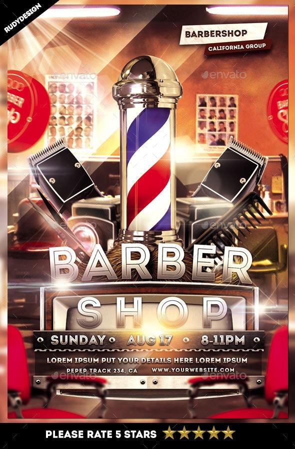 Barbershop Flyer - Miscellaneous Events