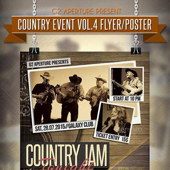 Country Event Flyer / Poster Vol.4