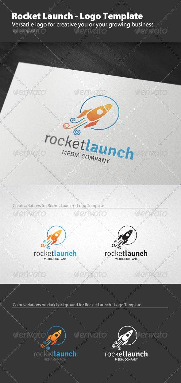 Rocket Launch - Logo Template - Vector Abstract