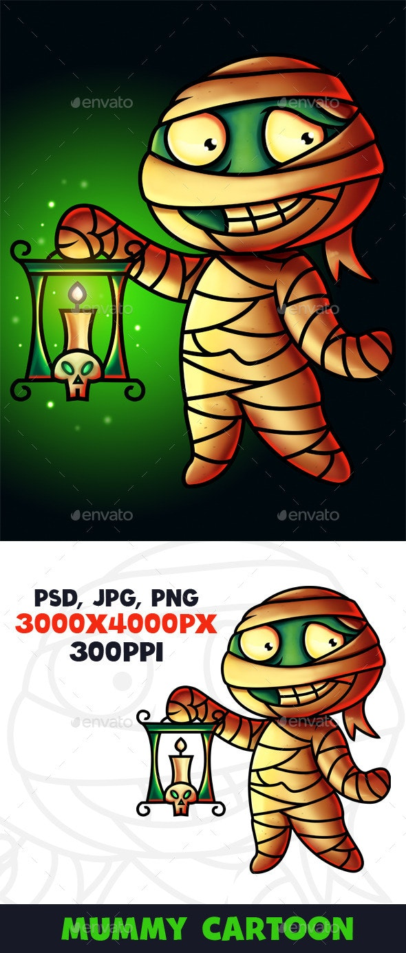 Mummy Cartoon Character Digital Painting