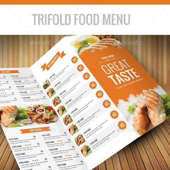 Trifold Food Menu A4