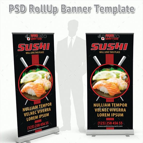 Sushi Restaurant Promotion Rollup Banner 62