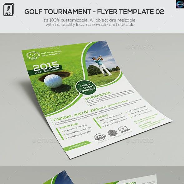 Golf Tournament - Flyer Template 02