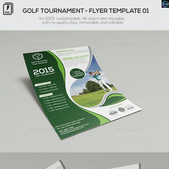 Golf Tournament - Flyer Template 01