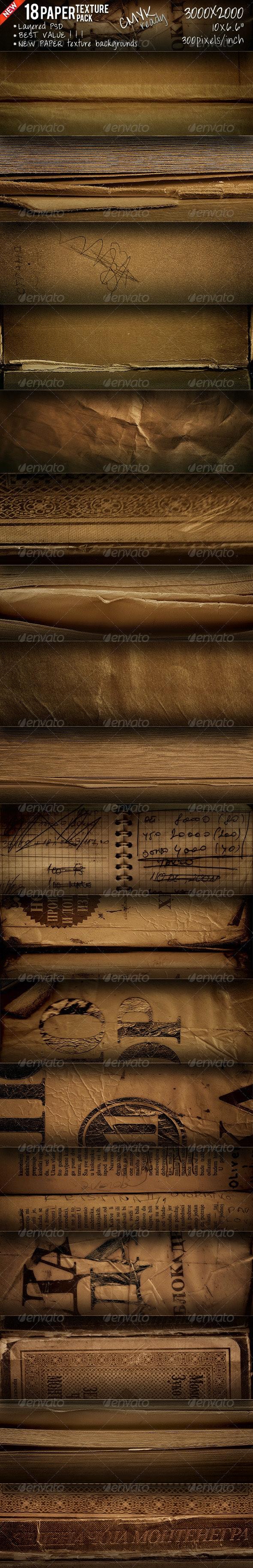 Paper Textures Pack  - Paper Textures