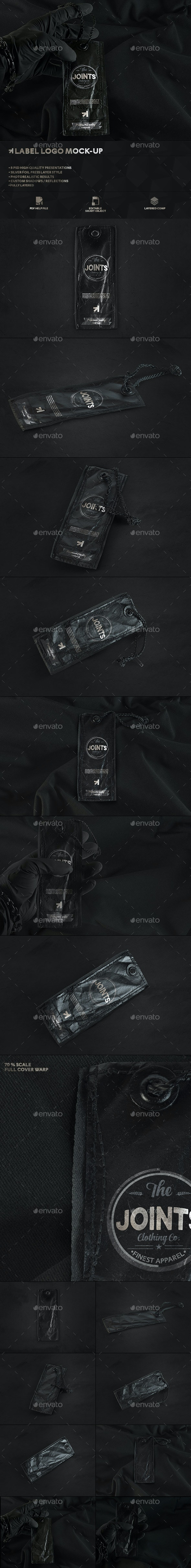 Black Edition Tag Label Mockup - Logo Product Mock-Ups