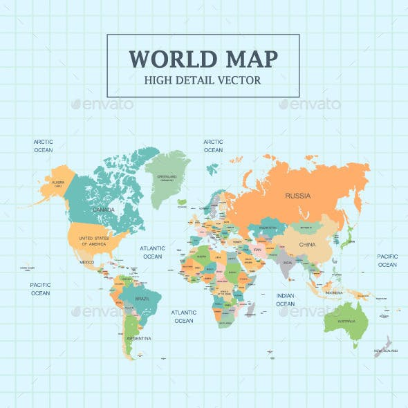 World Map Full Color