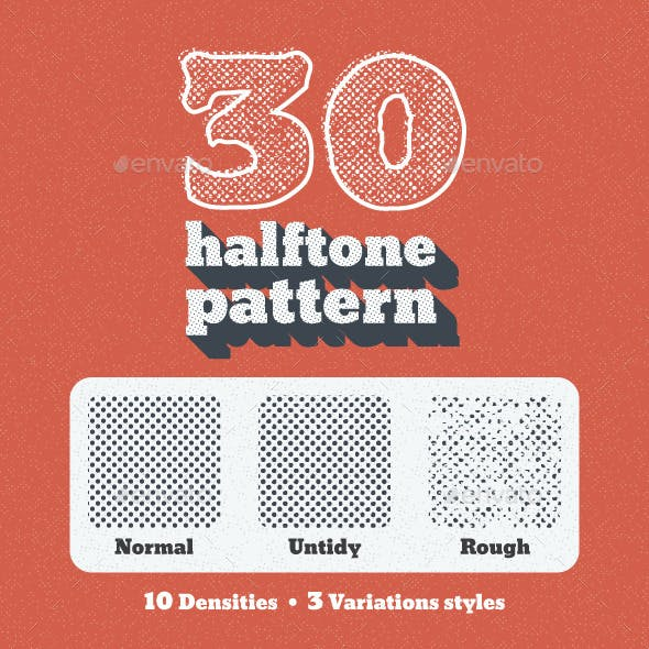 30 Seamless Tiled Halftone Patterns