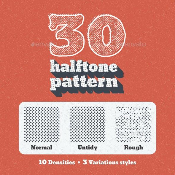 30 Seamless Tiled Halftone Patterns