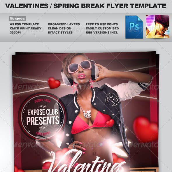 Valentines / Spring Break Flyer Template