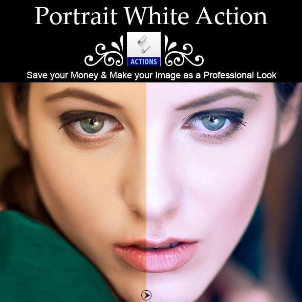 Portrait White Action