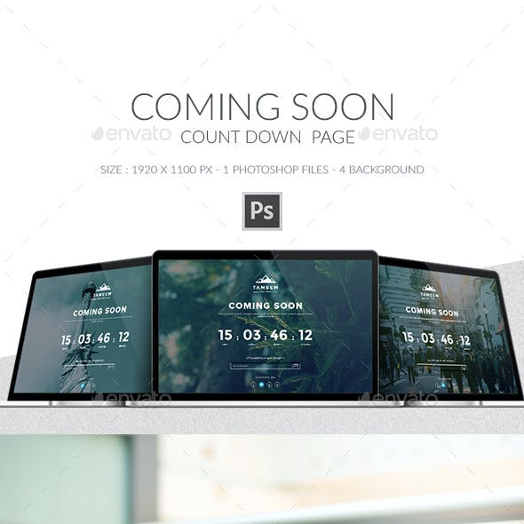 Coming, Launching Soon Page