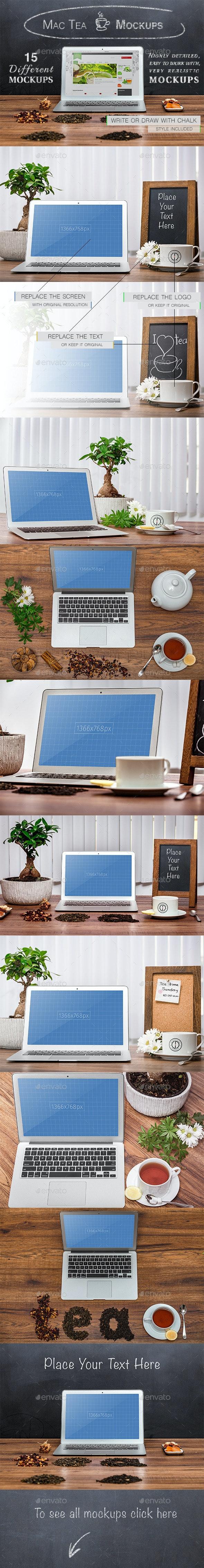 15 Mac-Tea Mockups - Laptop Displays