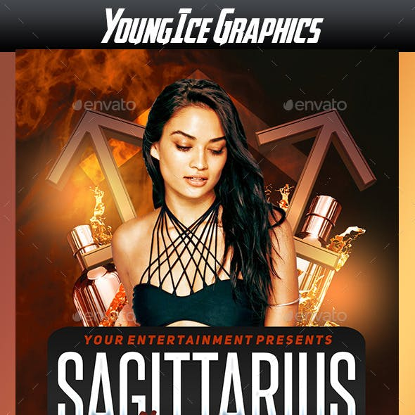 Sagittarius Thursdays Flyer Template
