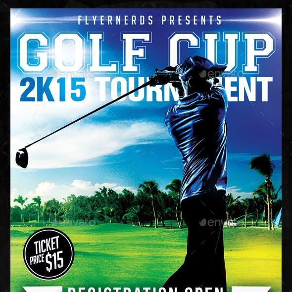 Golf Cup 2K15 Tournament Sports Flyer
