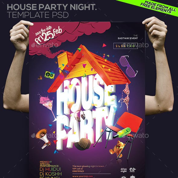 House Party Night Template