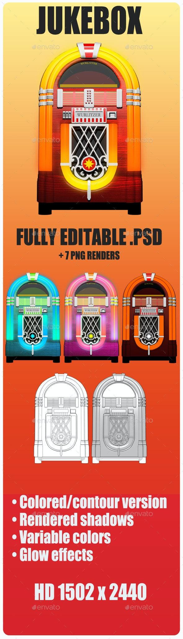 Jukebox Wurlitzer - Objects 3D Renders