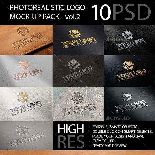 Photo realistic Logo Mockup Pack Vol.2