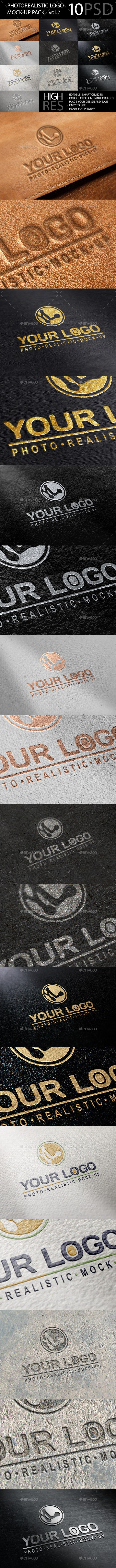 Photo realistic Logo Mockup Pack Vol.2  - Logo Product Mock-Ups