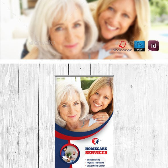 Home Care Billboard & Roll-Up Templates