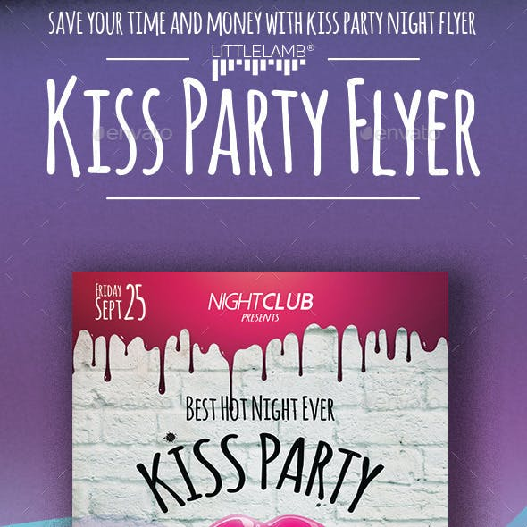 Kiss Night Party Flyer