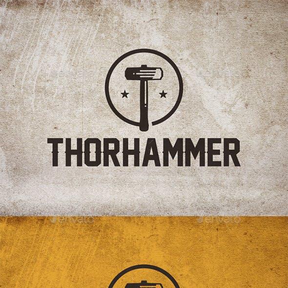 Thor Hammer Logo Template