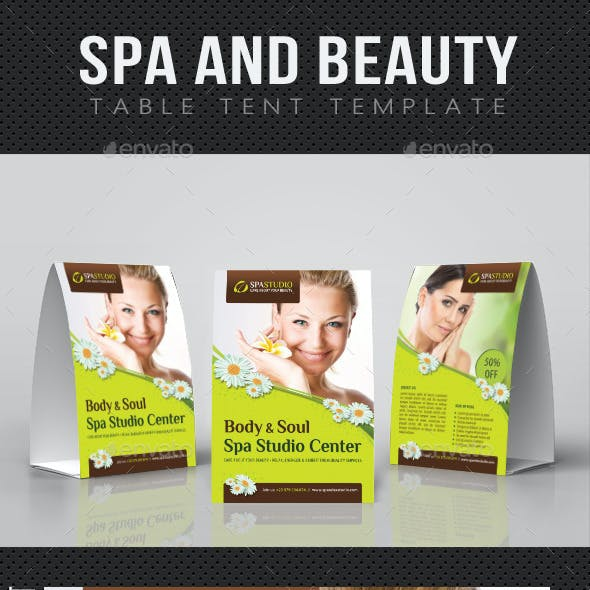 Spa And Beauty Table Tent Template 02