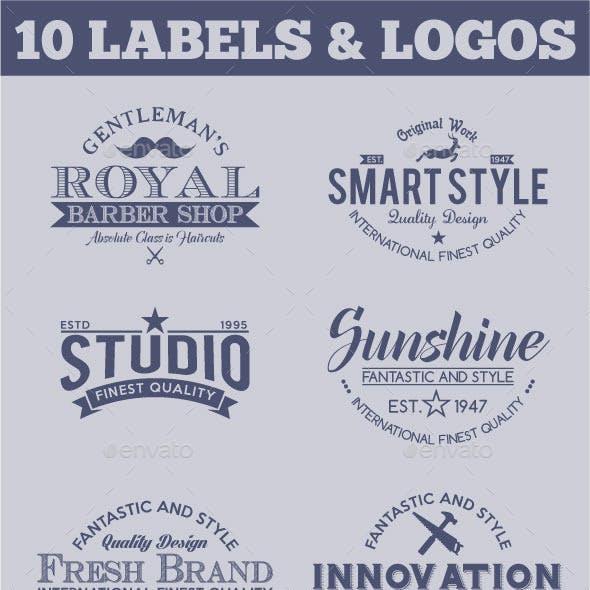 Retro Vintage Logotypes and Stickers