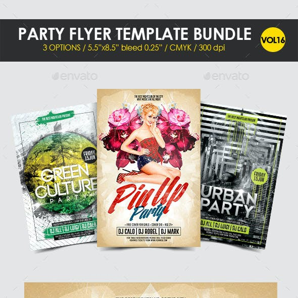 Party Flyer Template Bundle Vol. 16