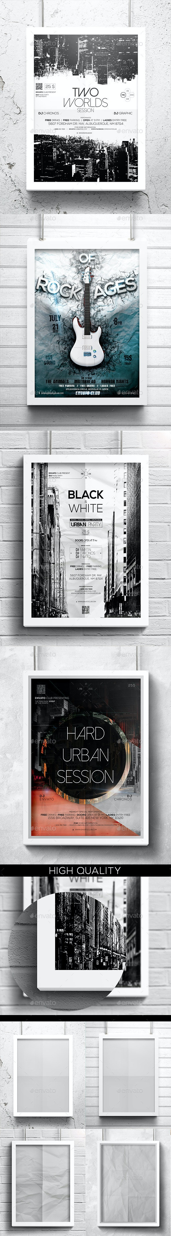 A4 Light Poster Mockups - Posters Print