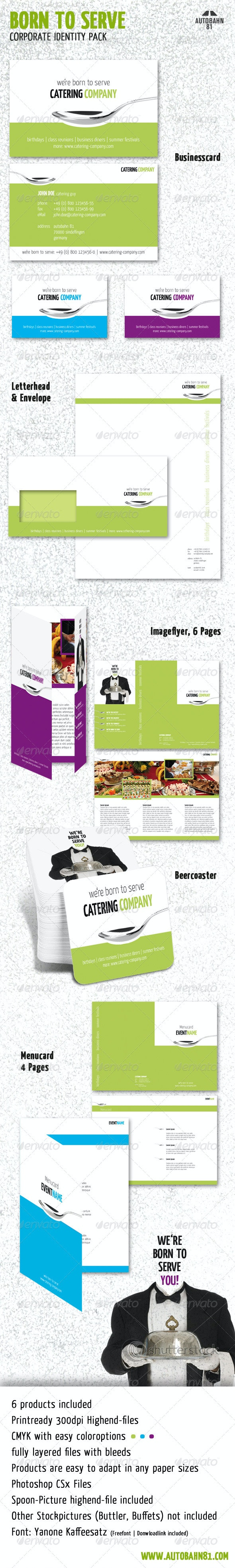 Born 2 Serve Stationery - Stationery Print Templates