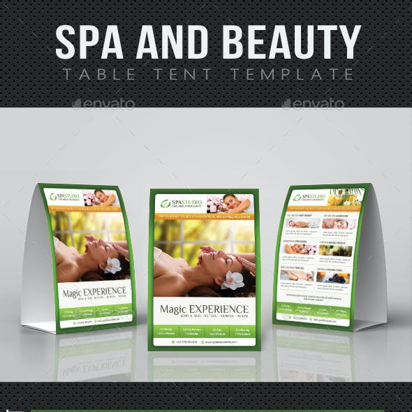 Spa And Beauty Table Tent Template 04