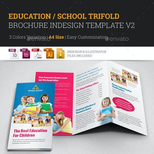 Education School Trifold Brochure Template v2